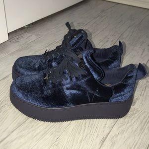 NEVER WORN- windsor smith velvet sneakers